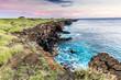South Point Hawaii or Ka Lae at Sunset.