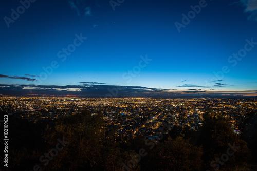 Foto op Canvas Zwart Bogotá sunset