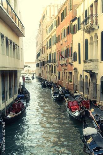 Fototapeta Gondolas in Venice Canal
