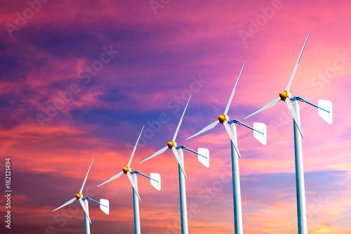 Papiers peints Rose wind turbine
