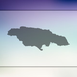 Jamaica map. Blurred background with silhouette of Jamaica map. Vector silhouette of Jamaica map