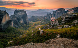 The beautiful view of Meteora from Above - 182128437