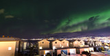 the polar lights over the city of Tromso