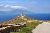 Leuchtturm auf griechischer Insel Mykonos - 182131202