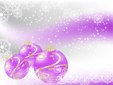 Violet christmas balls - 182131423