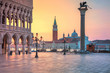 Quadro Venice. Cityscape image of St. Mark's square in Venice during sunrise.
