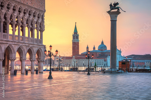Deurstickers Venetie Venice. Cityscape image of St. Mark's square in Venice during sunrise.