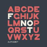 Heavy sans serif typeface design. Vector alphabet, letters, font - 182150280