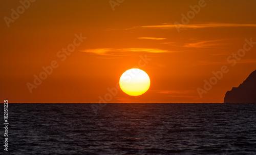 Foto op Canvas Baksteen Marina di Minturno LT, tramonto