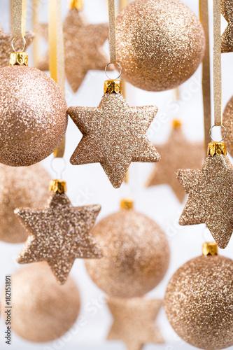 Foto op Plexiglas Bol Christmas. Christmas decor and greeting card. Symbol xmas.
