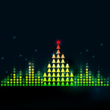Graphic music equalizer which forms a Christmas tree - 182162044