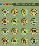 cruise round sticker icons for your creative ideas