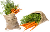 a fresh carrot in a cask isolated on white background - 182167043