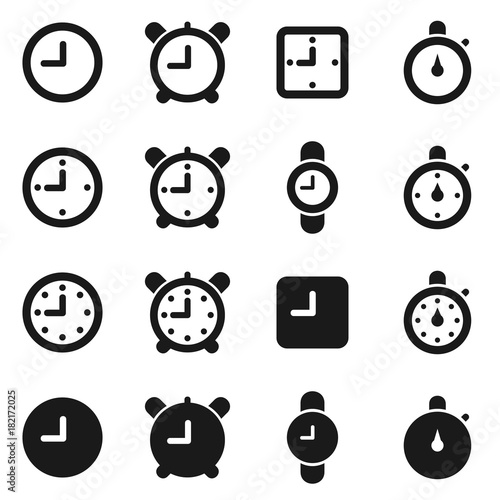 Fotobehang Abstractie Hours an icon3