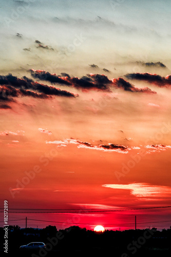 tramonto rosso Poster