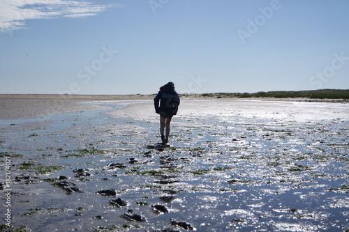 Fotobehang Noordzee Wattwandern