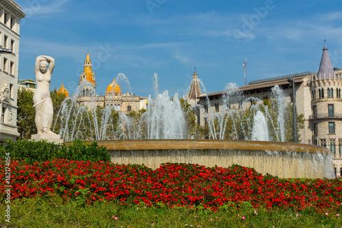 Aluminium Barcelona Plaza Catalunya Fountain Statue Barcelona