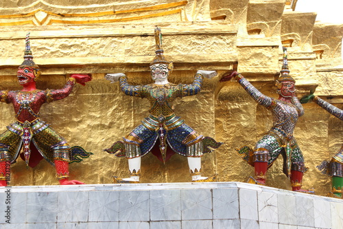Foto op Aluminium Bangkok Buddhism in Bangkok, picture in Wat Phra Kaeo