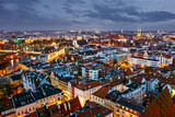 City of Wroclaw in Poland, Old Town Market Square from above.