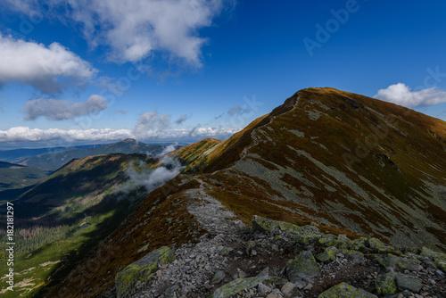 Foto op Canvas Zwart rocky mountain peak area view in slovakia
