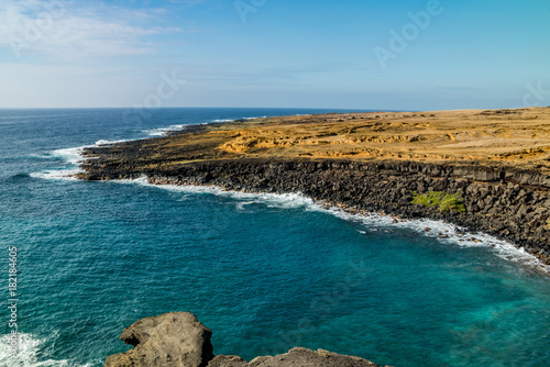 Deurstickers Groen blauw Green Sand Beach, Hawaii VII
