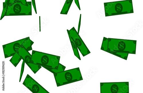 Cash Money Falling Particles Tabloid 01 Poster