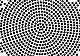 Black abstract vector circle pattern design. Halftone texture