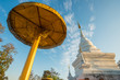 Wat Phra That Khao Noi in Nan province of the northern Thailand in the morning.