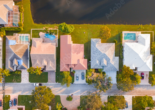 Fototapeta South Florida Urban Aerial Photography