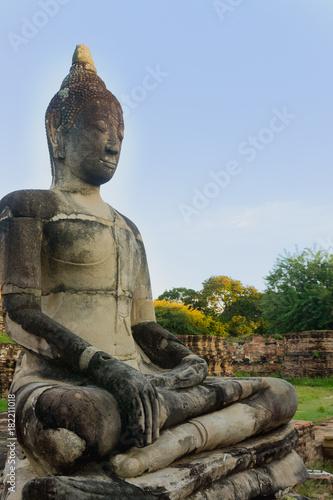 Foto op Aluminium Boeddha Wat Mahathat in Buddhist temple complex in Ayutthaya . Thailand