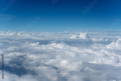 sky and clouds aerial view. - 182213066