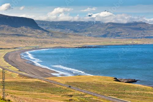 Plexiglas Blauwe jeans Western Icelandic sea coastline