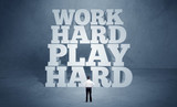 Hard working motivation for business person - 182224061