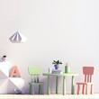 Pastel child's room. playroom. modern style. 3d illustration. Mock up wall