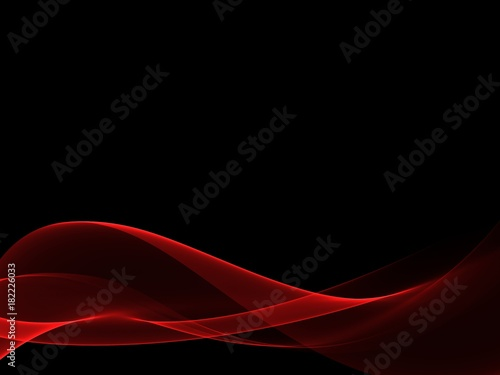 Plexiglas Abstractie Red Wave Abstract Background