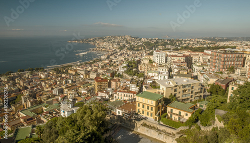Aluminium Napels Panorama of Naples, view from Castel Sant'Elmo