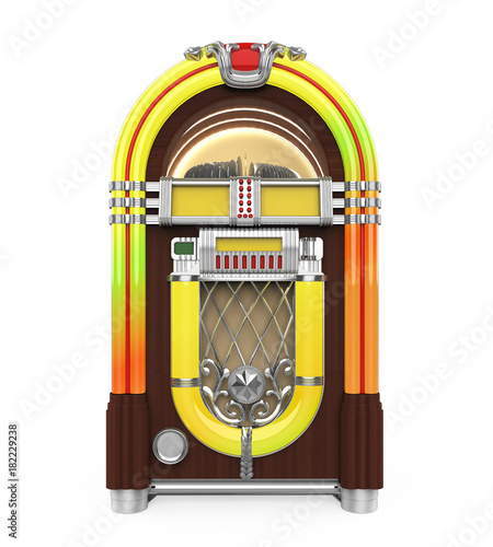 Plexiglas Muziek Vintage Jukebox Radio Isolated