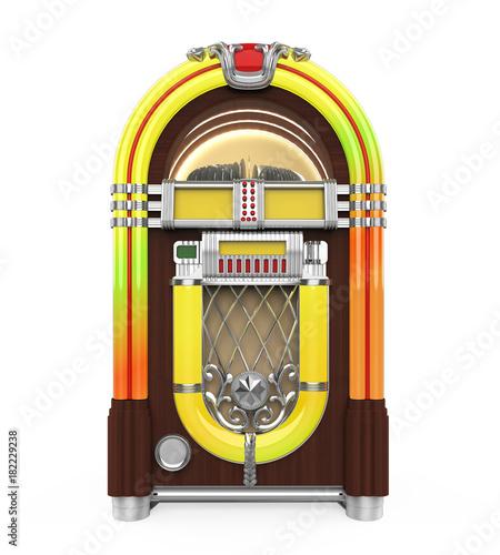 Vintage Jukebox Radio Isolated