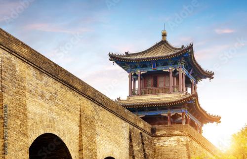 ancient-city-wall,-architektura,-zdjecie,-chiny