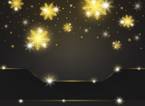 Golden snowflake Christmas festival picture background with light