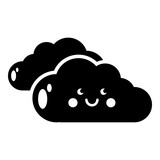 KInd cloud icon, simple style - 182234069