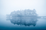 lake in fog - 182235038