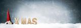 Xmas panoramic banner with cute Santa Claus