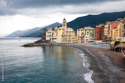 Fotobehang Liguria Camogli, Italy