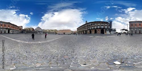 Foto op Canvas Napels Napoli foto sferica di piazza del plebiscito