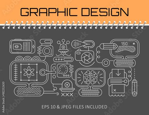 Tuinposter Abstractie Art Graphic Design banner template design