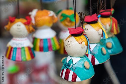 Foto op Canvas Krakau Artistic souvenir at local traditional market in Cracow, Poland.