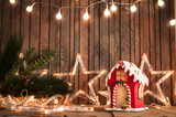 lights and gingerbread house - 182256063