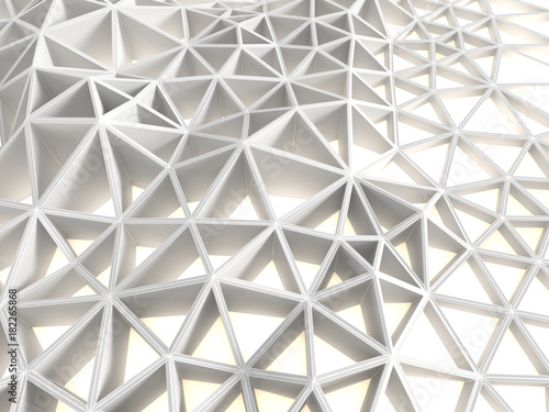 Abstract white triangular background. 3d illustration