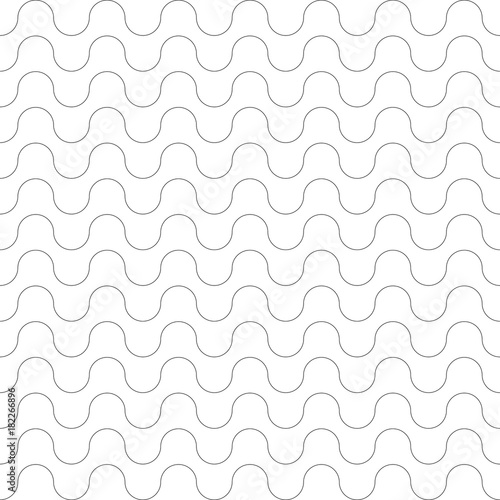 Seamless pattern. Wavy lines texture. - 182266896